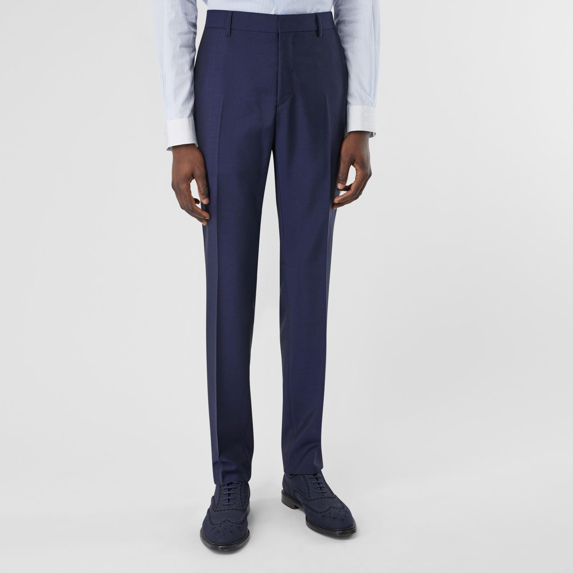 Slim Fit Wool Mohair Suit in Bright Navy - Men | Burberry United Kingdom - gallery image 5