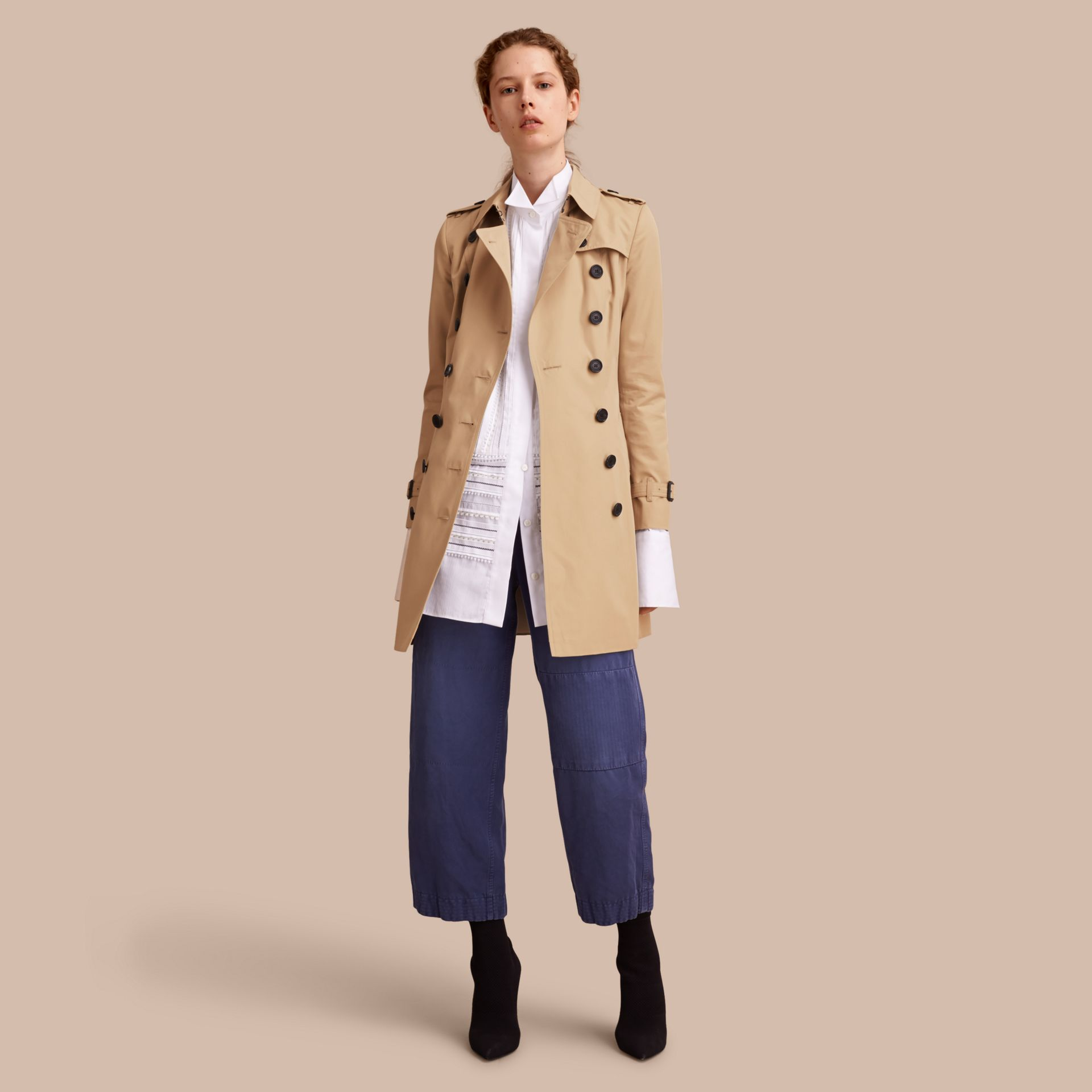 Miele The Chelsea - Trench coat Heritage medio Miele - immagine della galleria 1