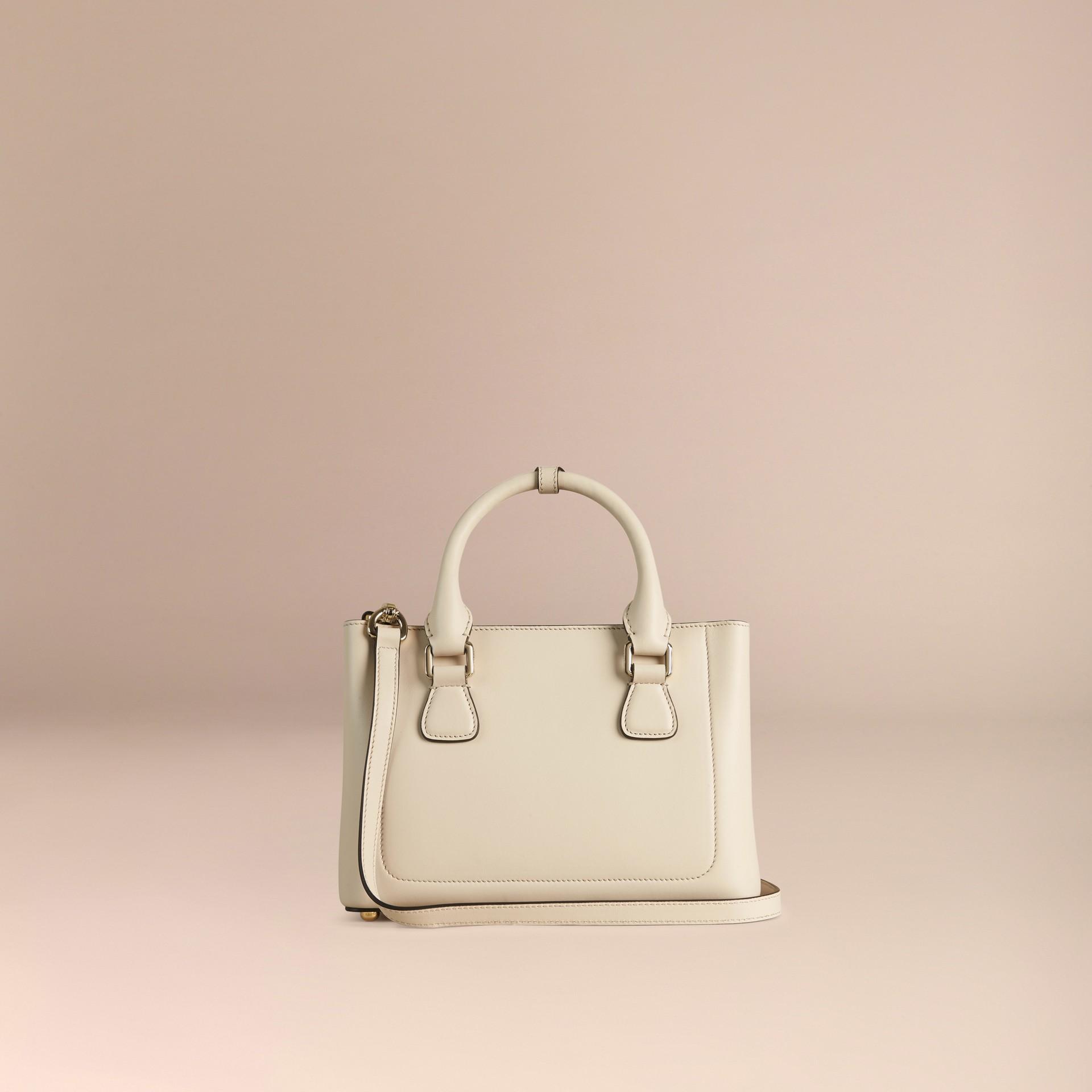 Steinfarben The Small Saddle Bag aus Glattleder und Pythonleder - Galerie-Bild 4