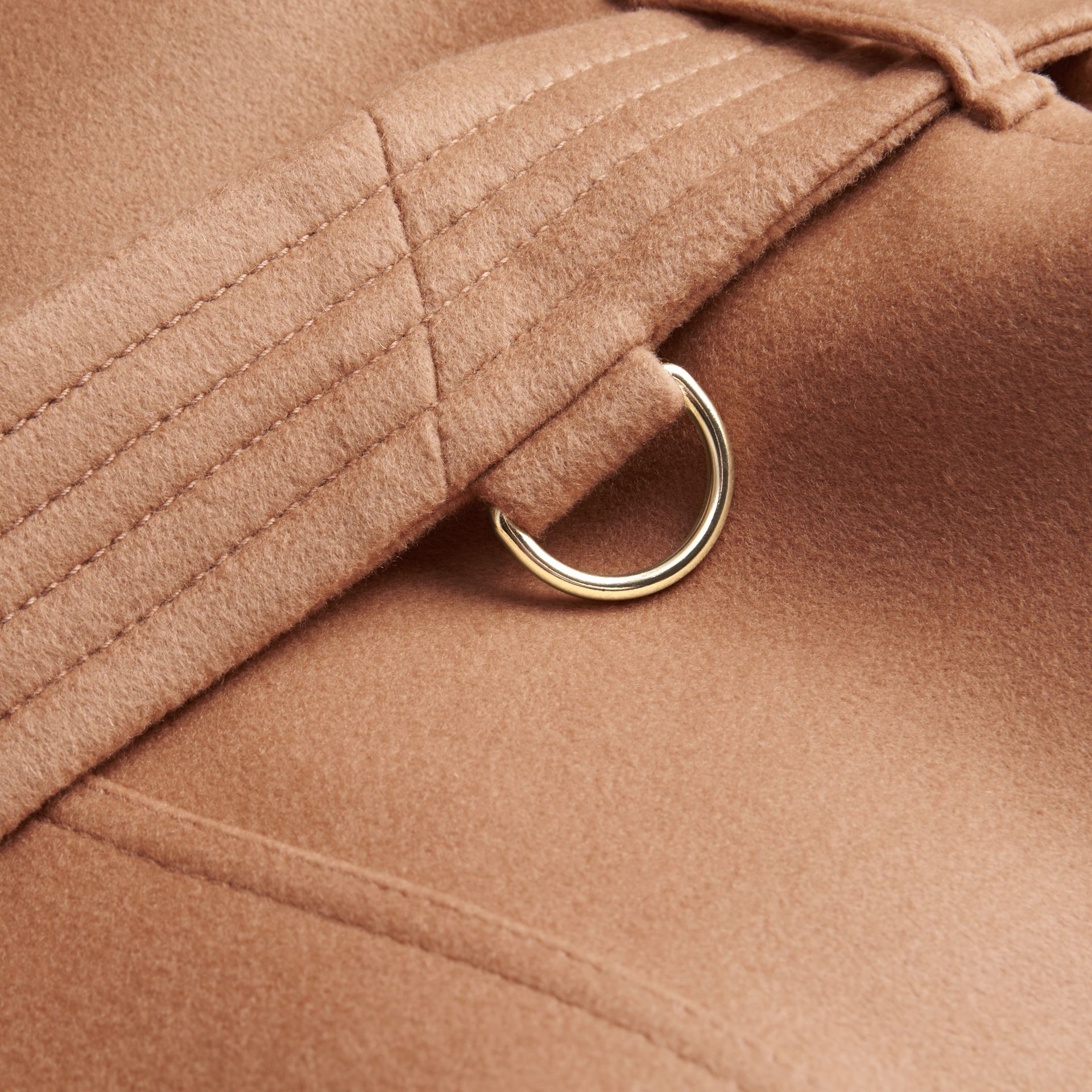 Wool Cashmere Trench Coat Camel - gallery image 2