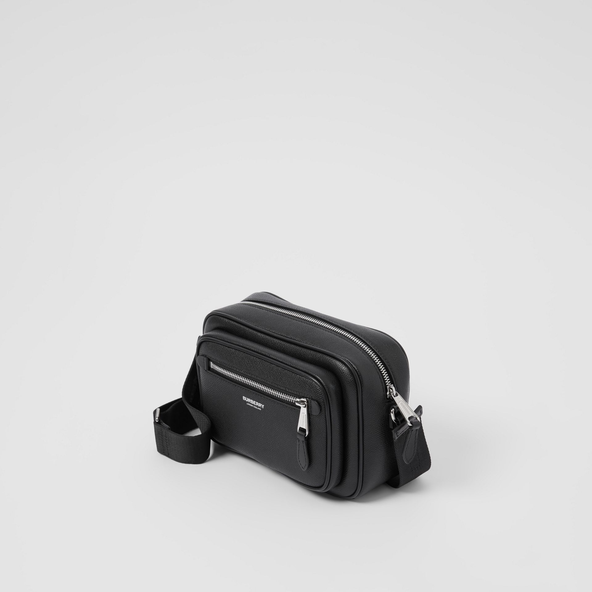 Grainy Leather Crossbody Bag in Black - Men | Burberry - gallery image 3