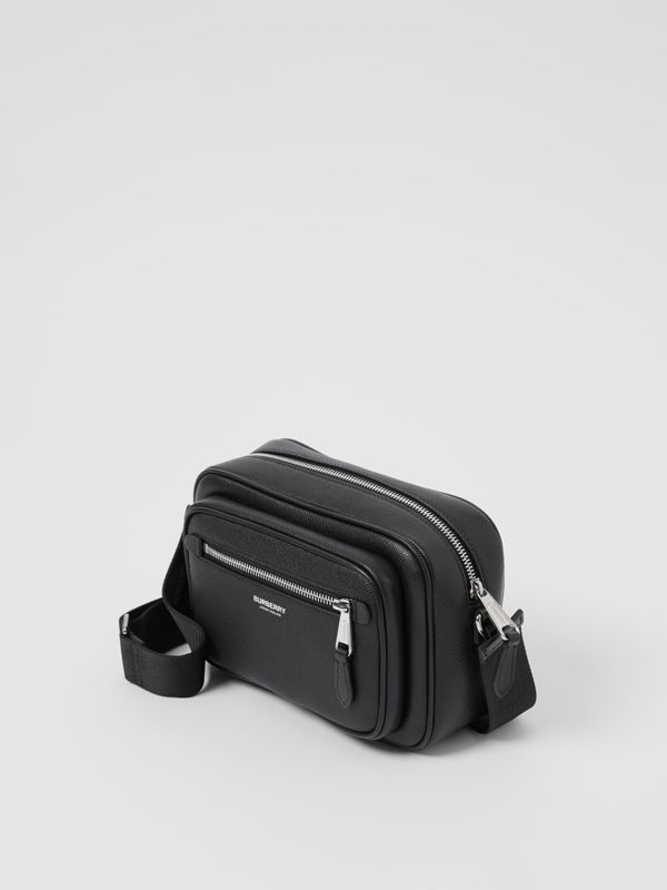 Grainy Leather Crossbody Bag in Black - Men | Burberry - cell image 3