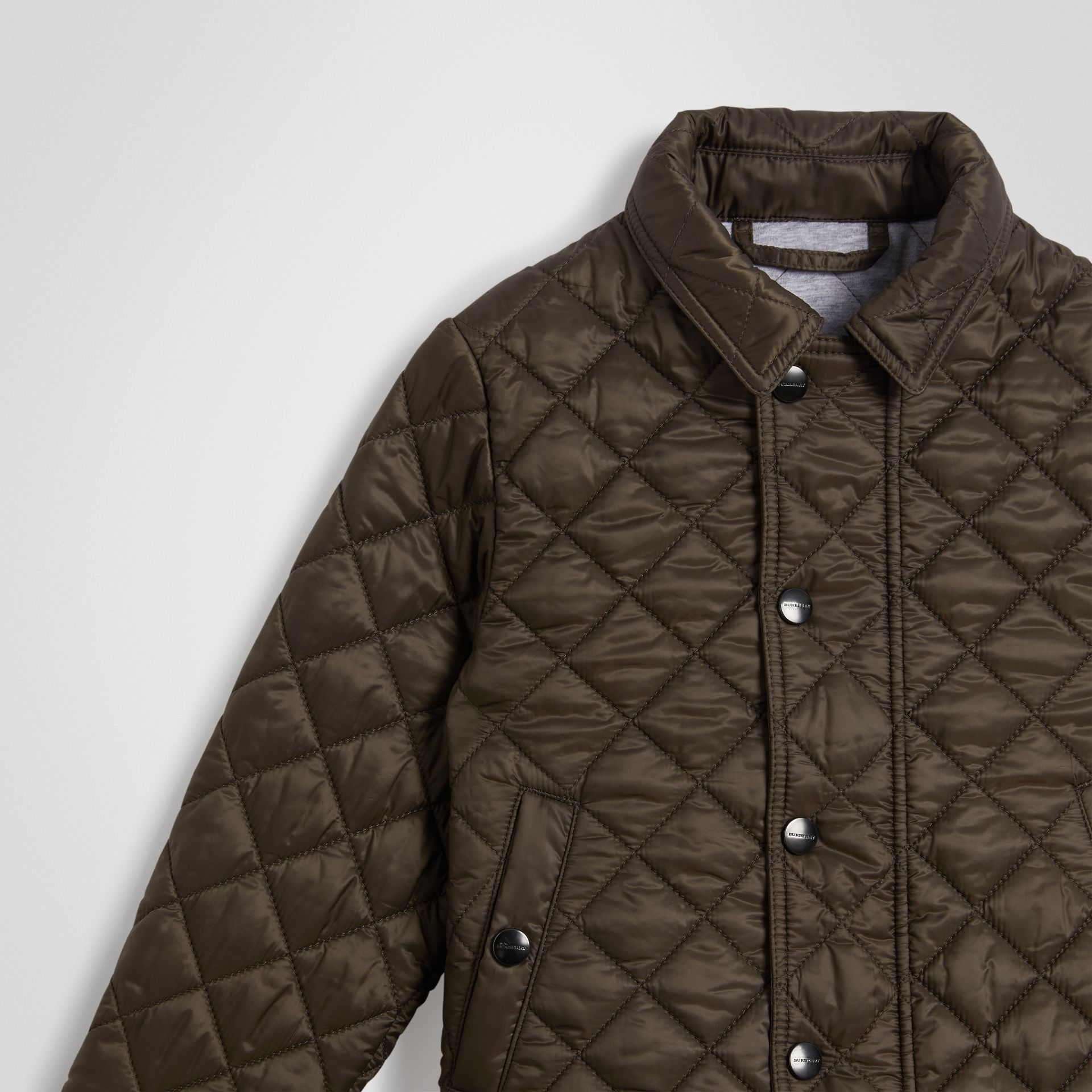 Lightweight Diamond Quilted Jacket in Oregano | Burberry Canada - gallery image 4