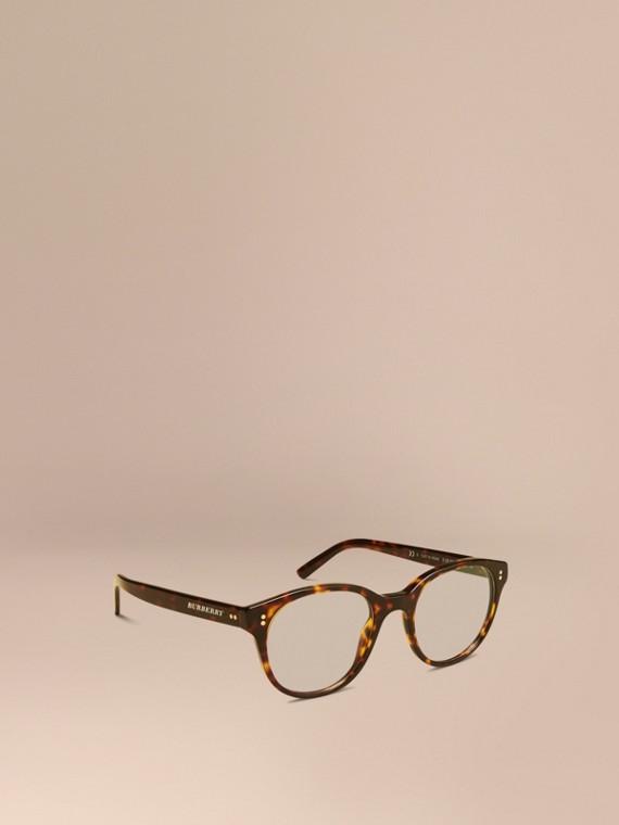 Brille mit rundem Gestell Schildpattfarben
