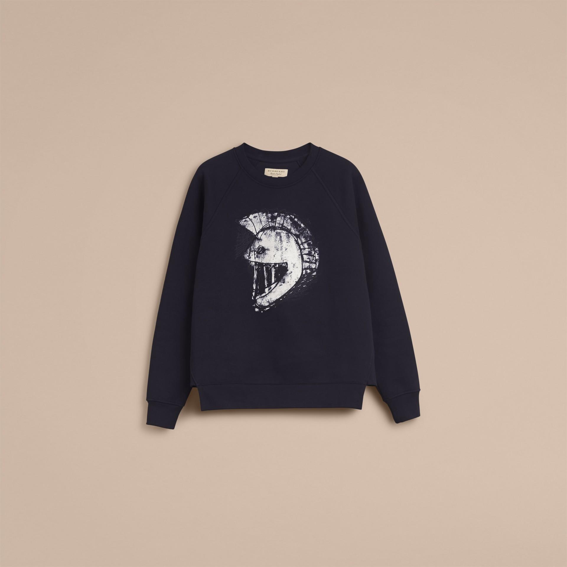 Unisex Pallas Helmet Motif Sweatshirt - Men | Burberry - gallery image 4