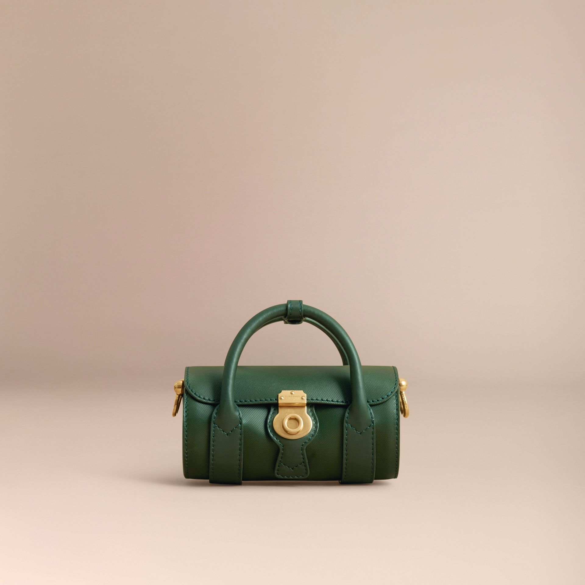 The Mini DK88 Barrel Bag in Dark Forest Green - Women | Burberry United States - gallery image 6