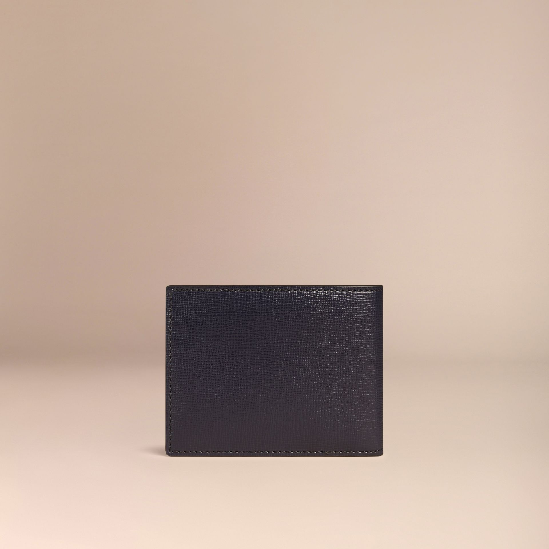 Dark navy London Leather Folding Wallet Dark Navy - gallery image 3