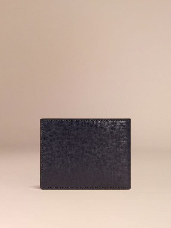 Dark navy London Leather Folding Wallet Dark Navy - cell image 2