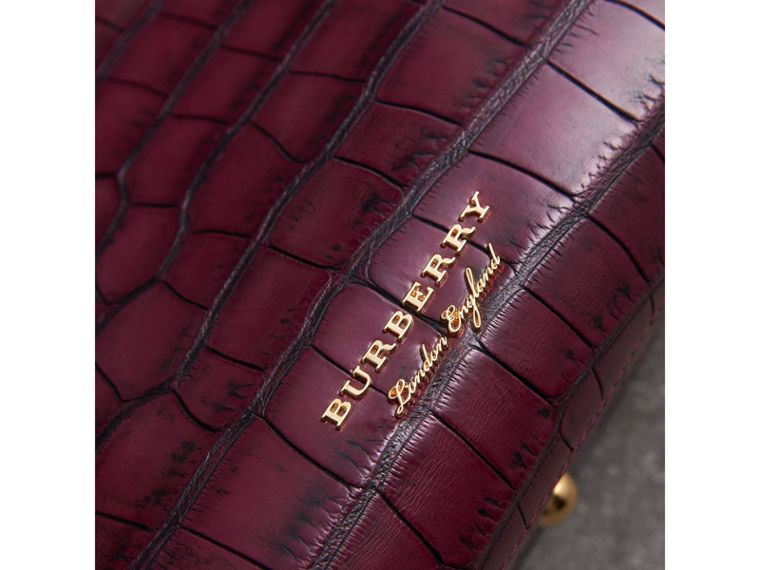 The Medium Banner in Alligator in Elderberry - Women | Burberry - cell image 1