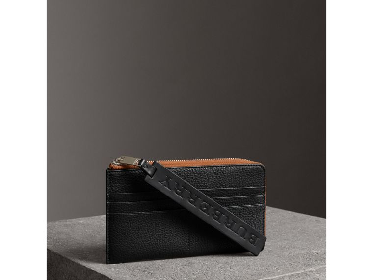 Grainy Leather Phone Case in Black - Men | Burberry Australia - cell image 4