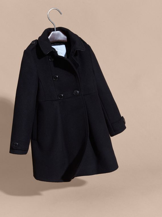 Black Cashmere Military Coat Black - cell image 2