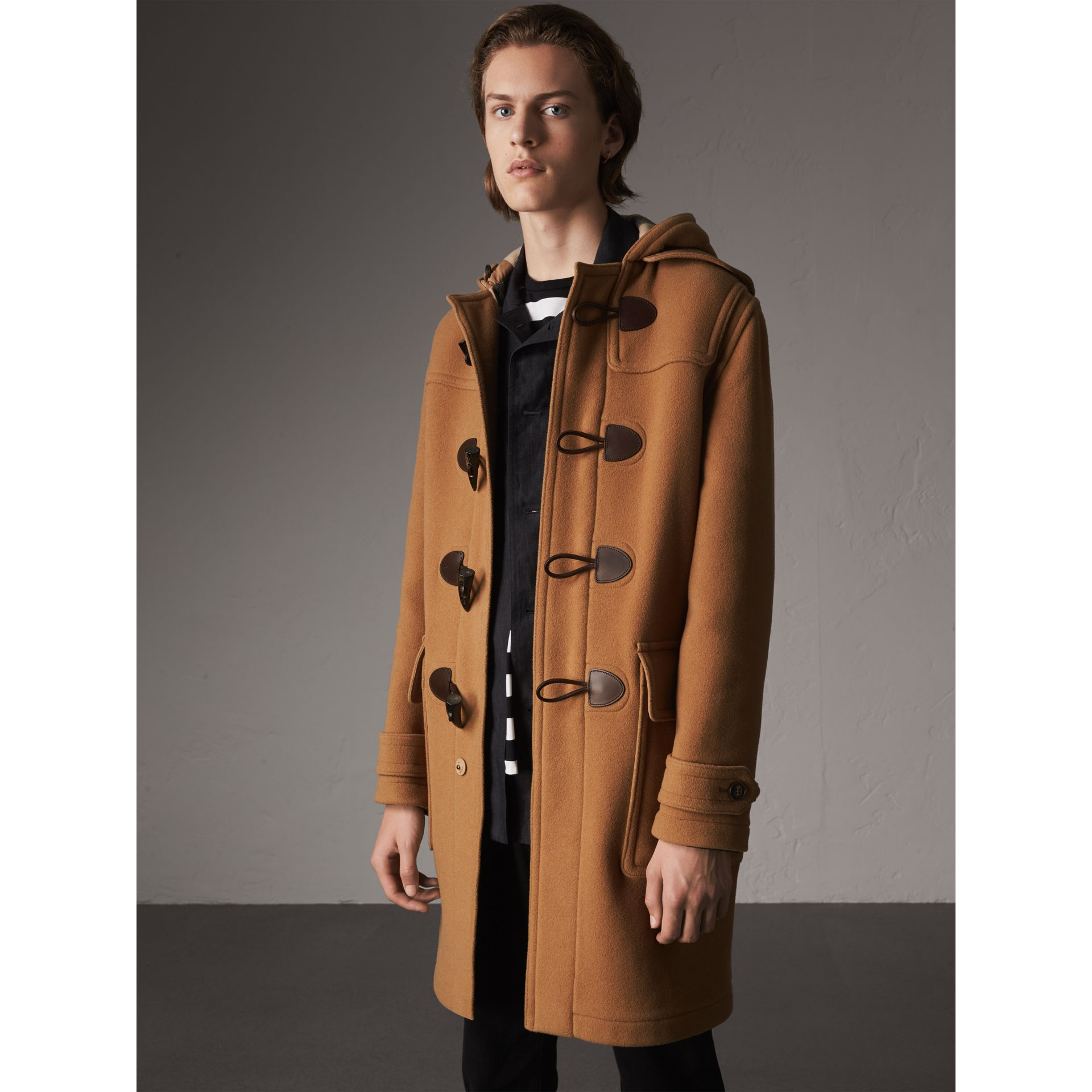 Wool-Blend Duffle Coat in Camel - Men | Burberry - gallery image 1