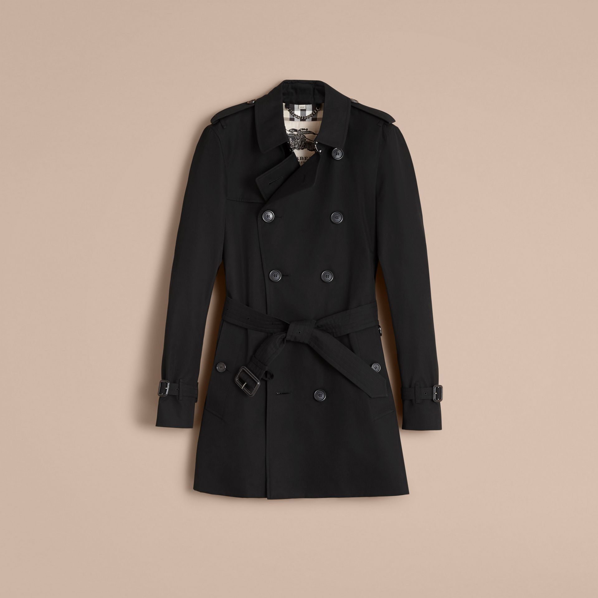 The Sandringham – Mid-length Heritage Trench Coat in Black - Men | Burberry - gallery image 4