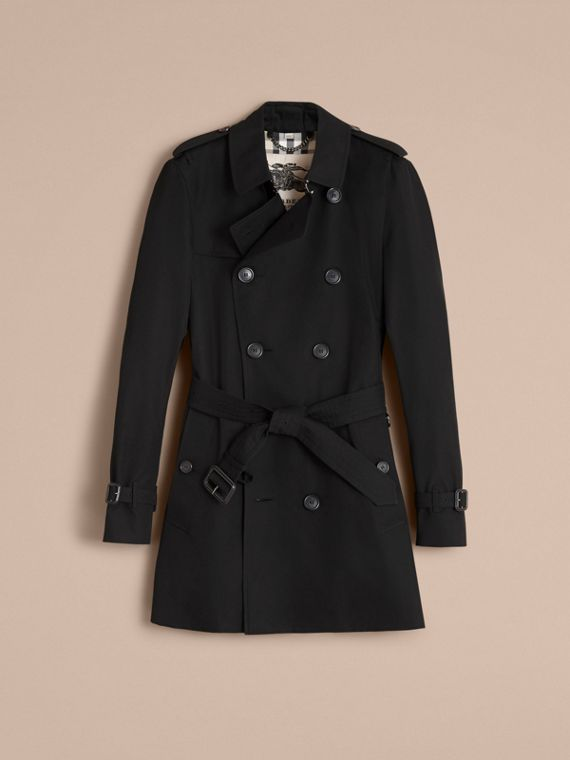 The Sandringham – Mid-length Heritage Trench Coat in Black - Men | Burberry - cell image 3
