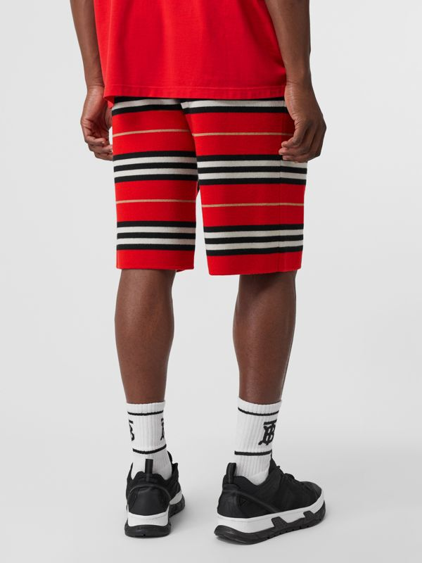Merino Wool Drawcord Shorts in Bright Red | Burberry - cell image 2