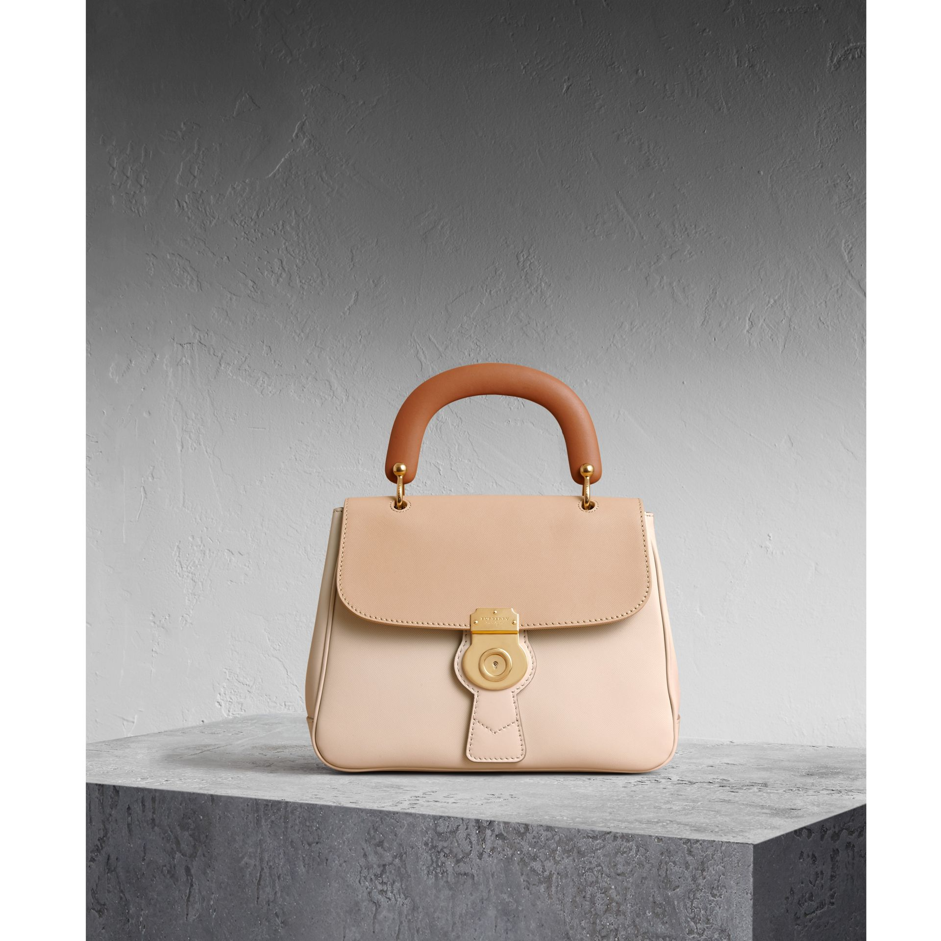 The Medium DK88 Top Handle Bag Limestone/honey - gallery image 1
