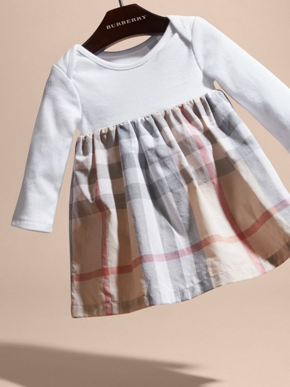 Cotton Check Dress | Burberry Canada - cell image 2