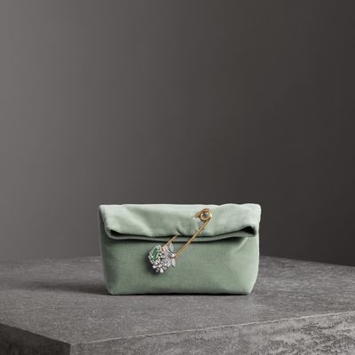 The Small Pin Clutch in Velvet