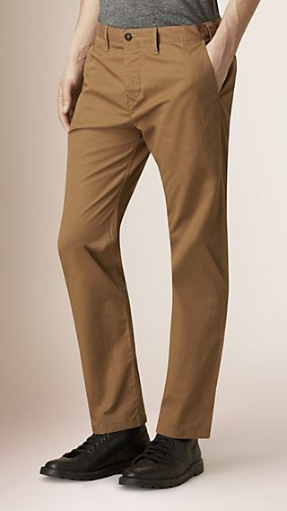 Straight Fit Cotton Chinos