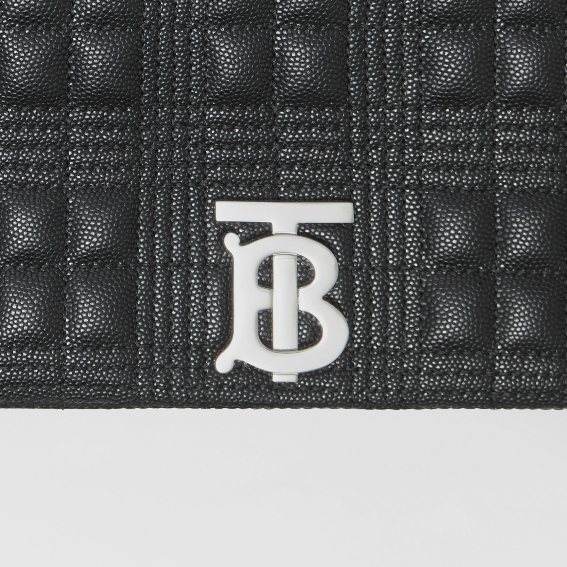Small Quilted Grainy Leather Lola Bag in Black | Burberry - gallery image 1