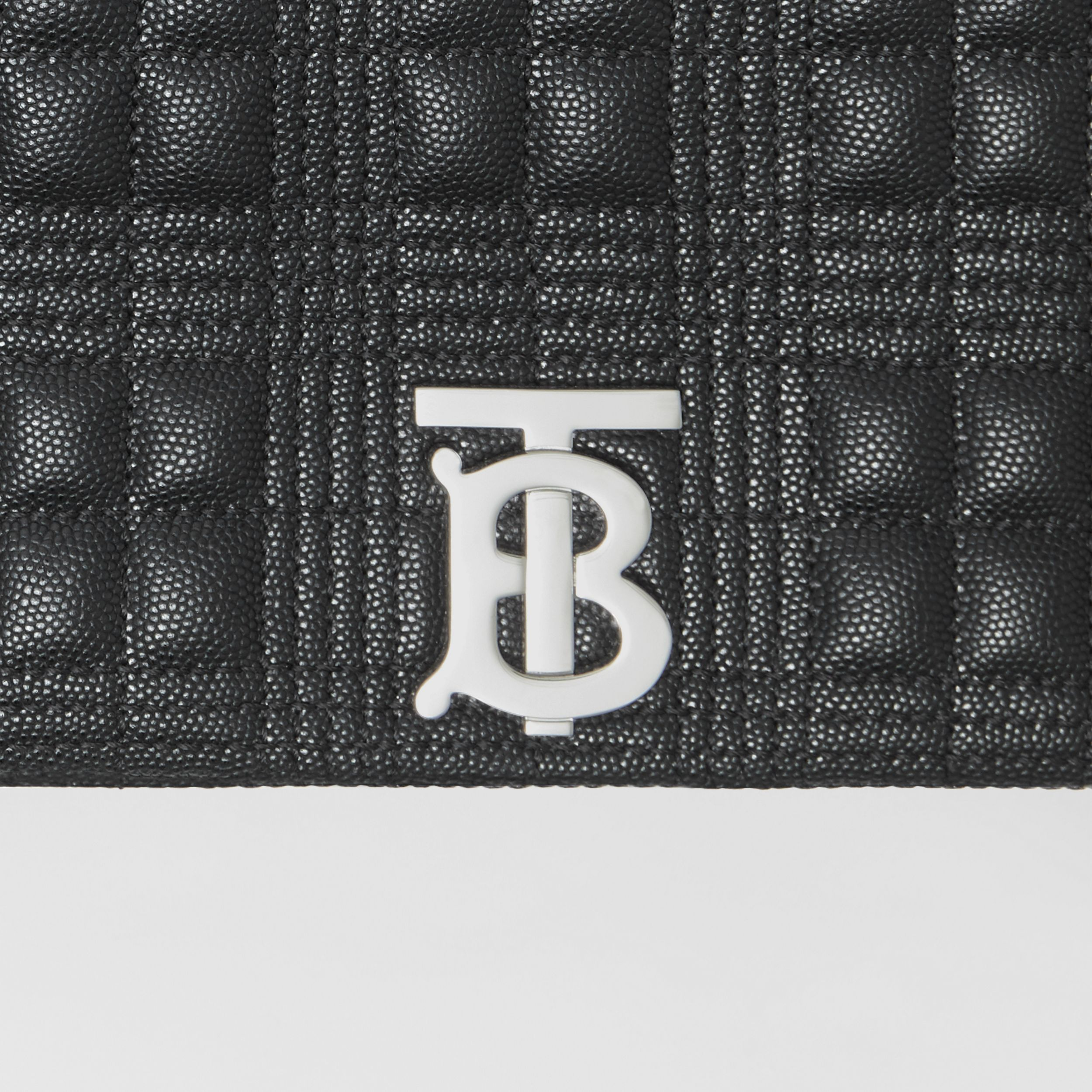 Small Quilted Grainy Leather Lola Bag in Black | Burberry - 2