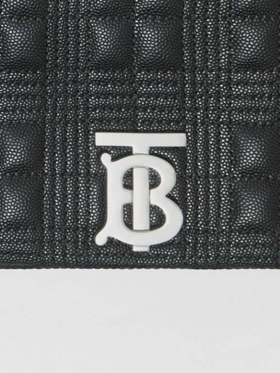 Small Quilted Grainy Leather Lola Bag in Black | Burberry United States - cell image 1