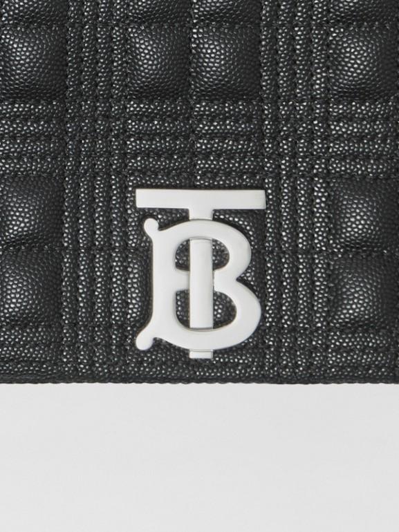 Bolsa Lola acolchoada em couro granulado - Pequena (Preto) | Burberry - cell image 1
