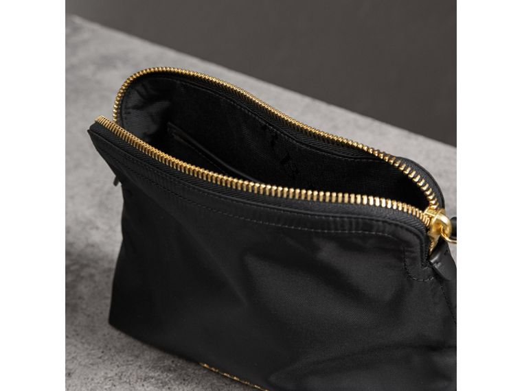 Large Zip-top Technical Nylon Pouch in Black - Women | Burberry Australia - cell image 4