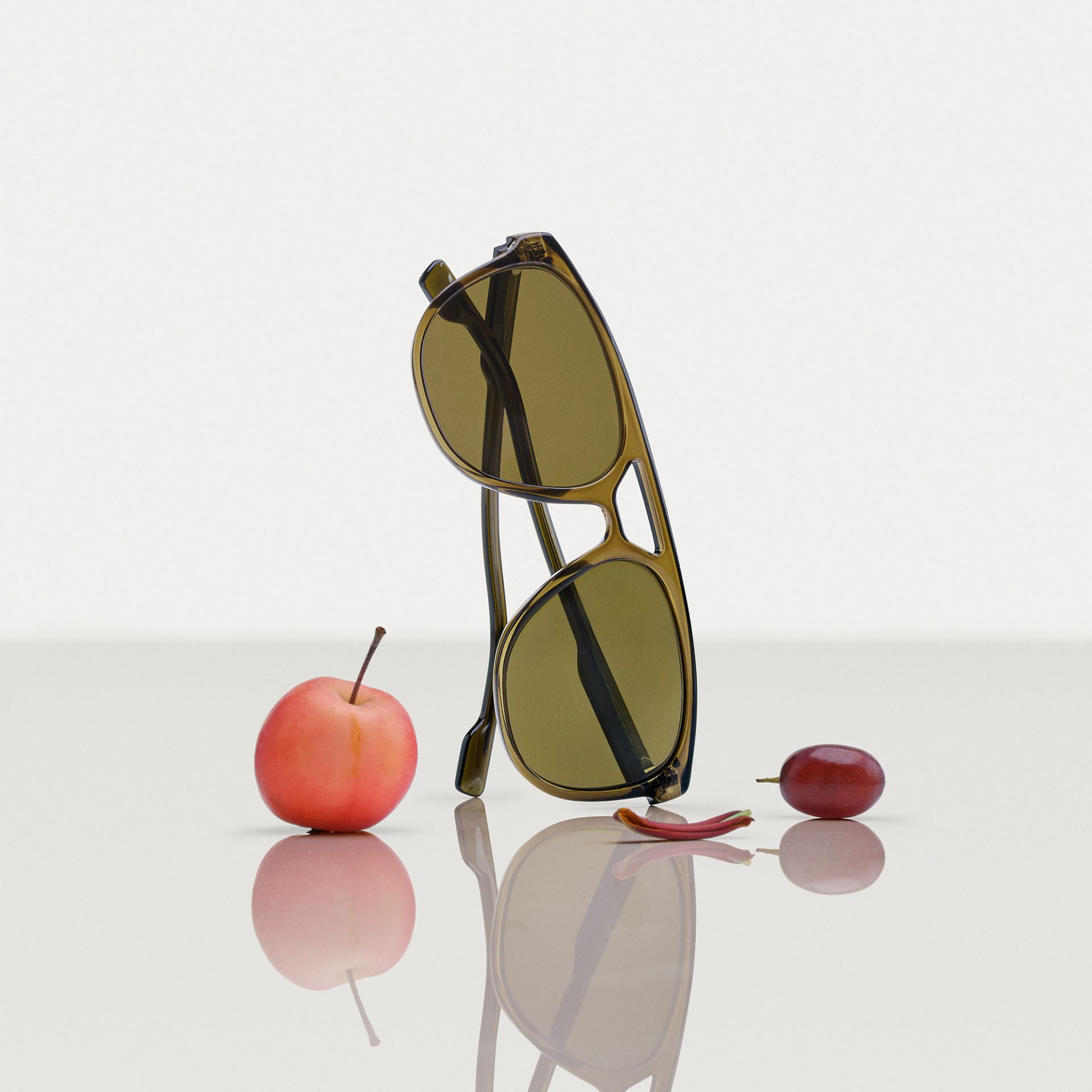 Navigator Sunglasses in Olive Green - Men | Burberry - gallery image 1