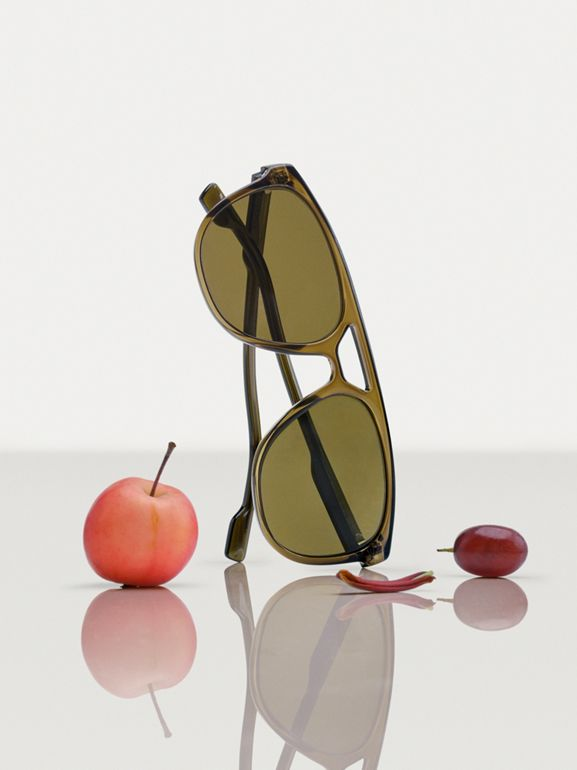 Navigator Sunglasses in Olive Green - Men | Burberry - cell image 1