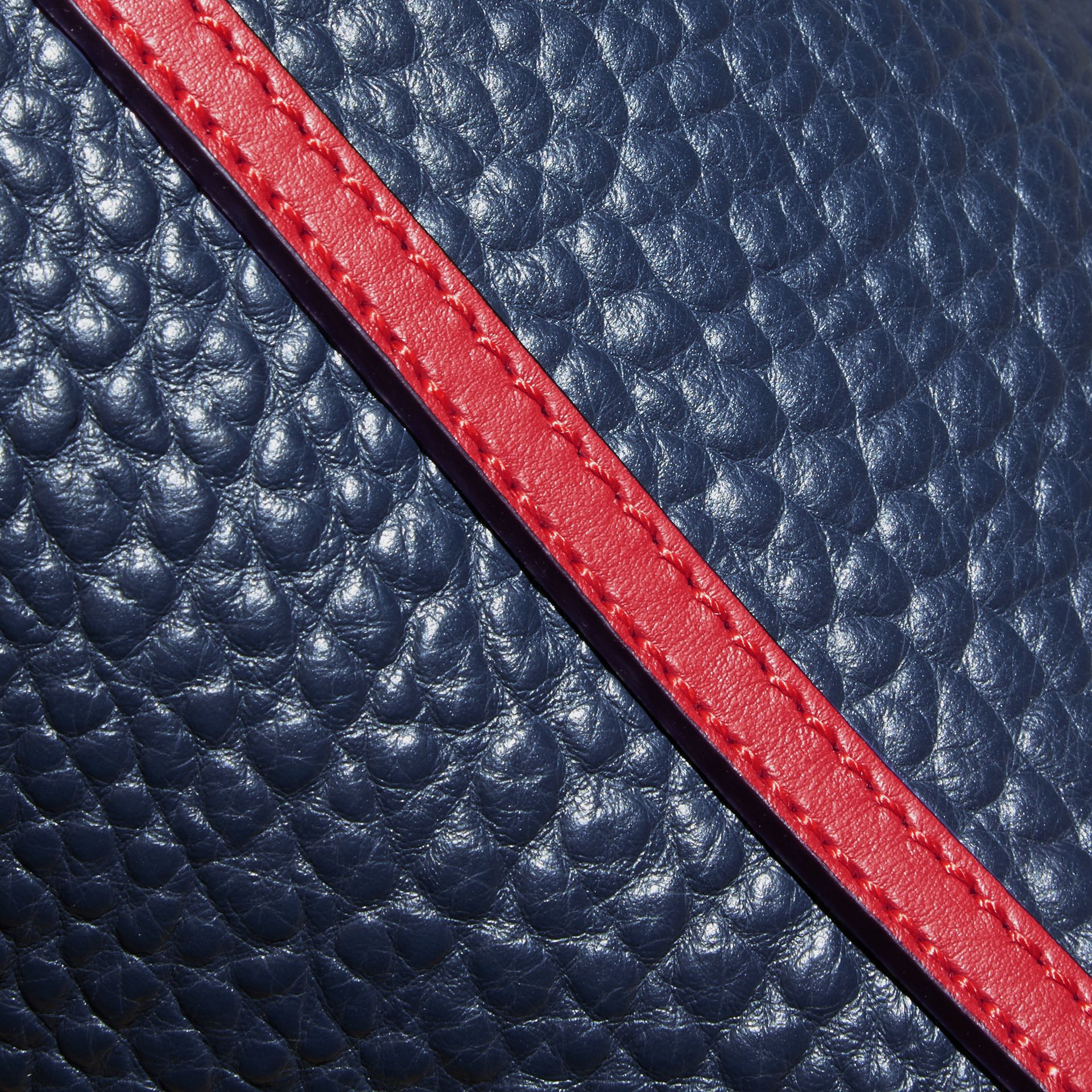 Blue carbon/parade red The Small Canter in Grainy Leather - gallery image 5