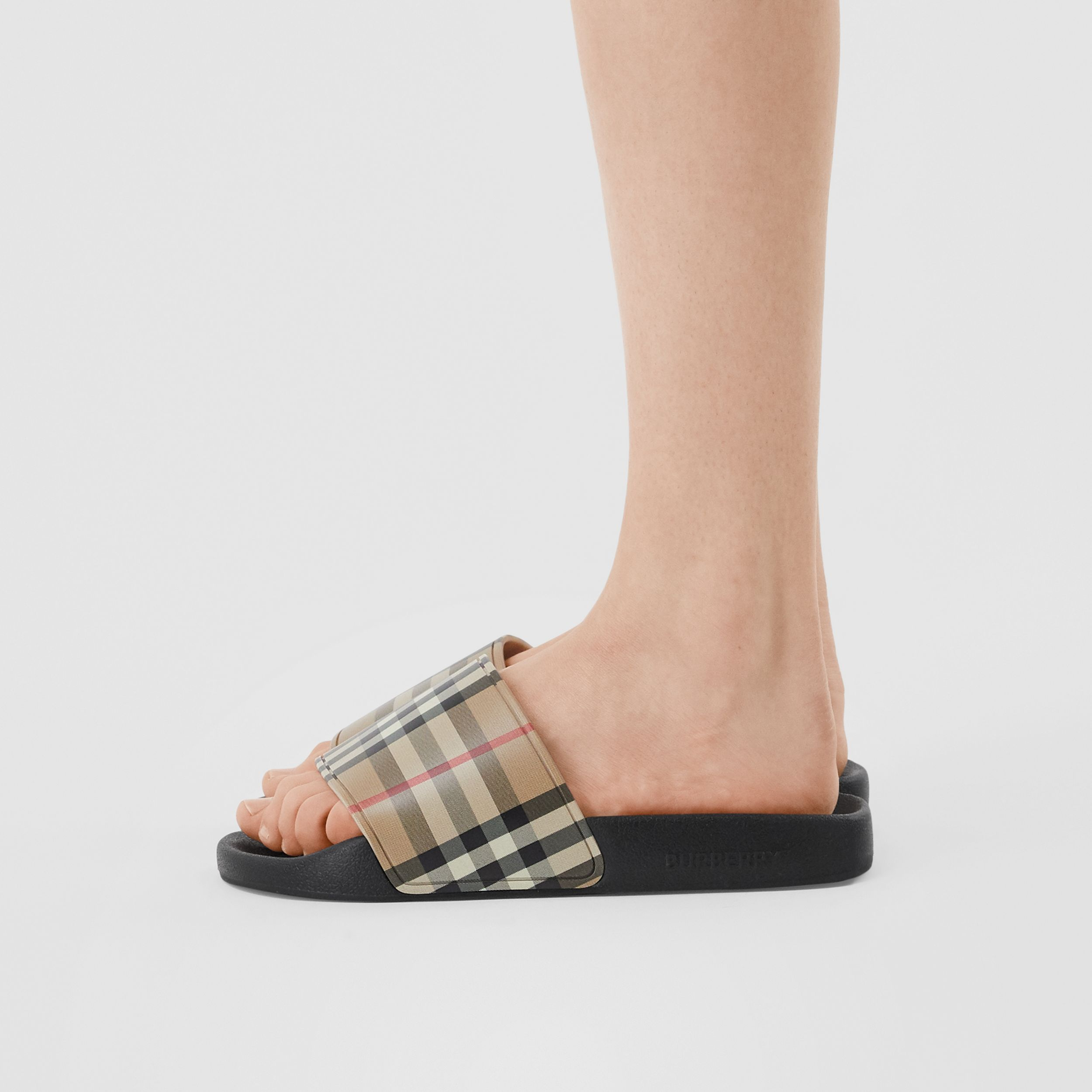 Vintage Check Slides in Archive Beige - Women | Burberry - 3