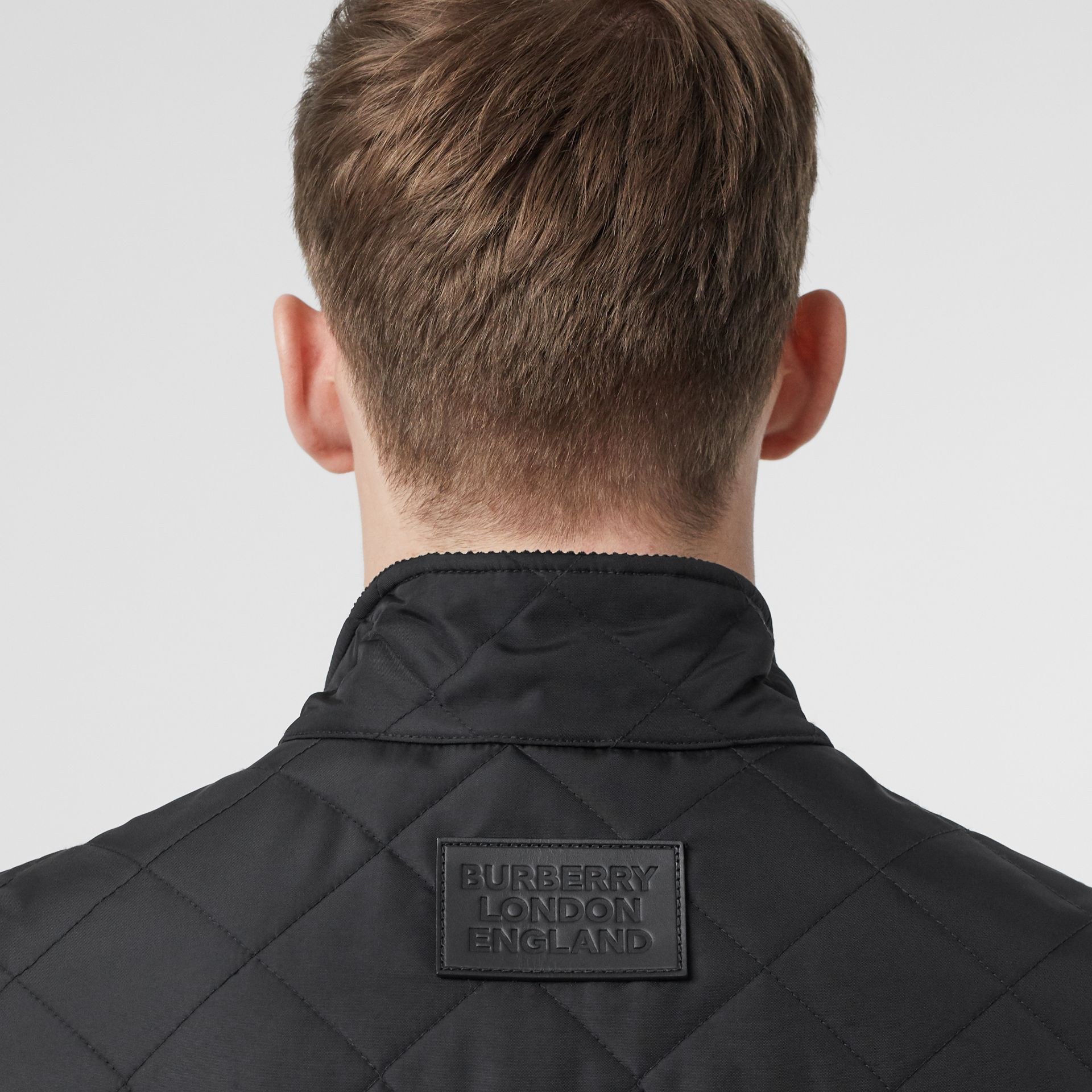 Diamond Quilted Thermoregulated Gilet in Black - Men | Burberry United Kingdom - gallery image 5