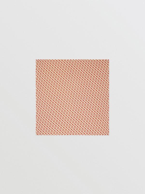 Monogram Print Merino Wool Baby Blanket in Vermilion Red - Children | Burberry United Kingdom - cell image 2