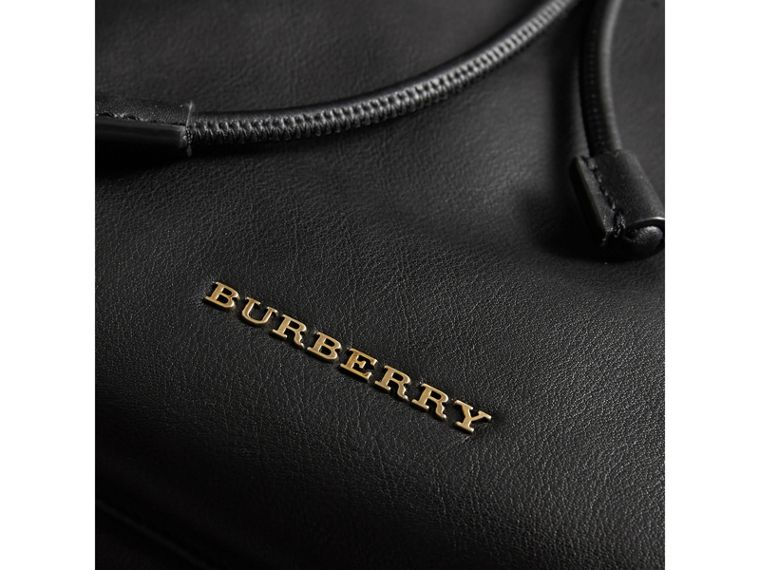 The Large Rucksack in Water-repellent Leather in Black - Men | Burberry - cell image 1