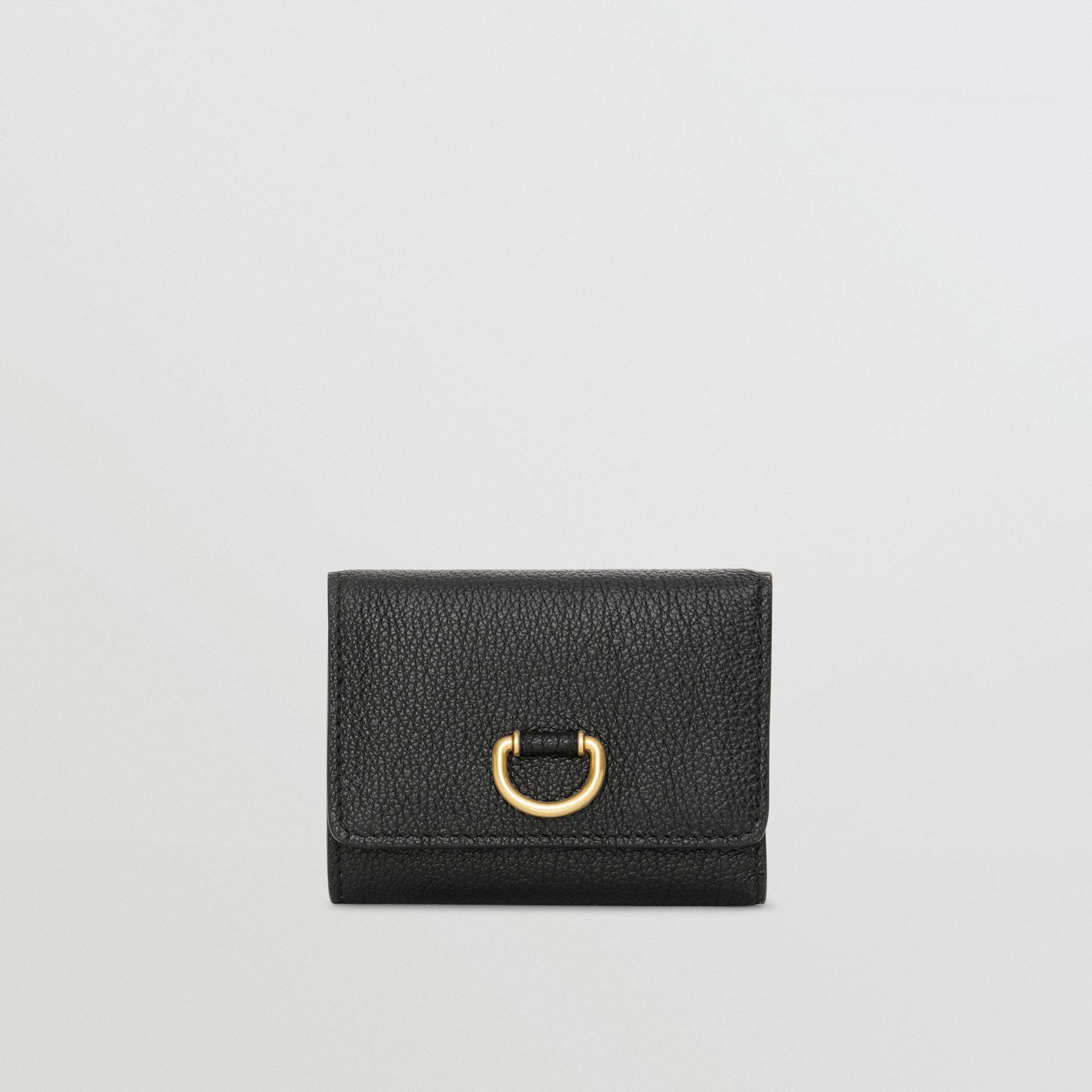 Small D-ring Leather Wallet in Black - Women | Burberry United Kingdom - gallery image 0