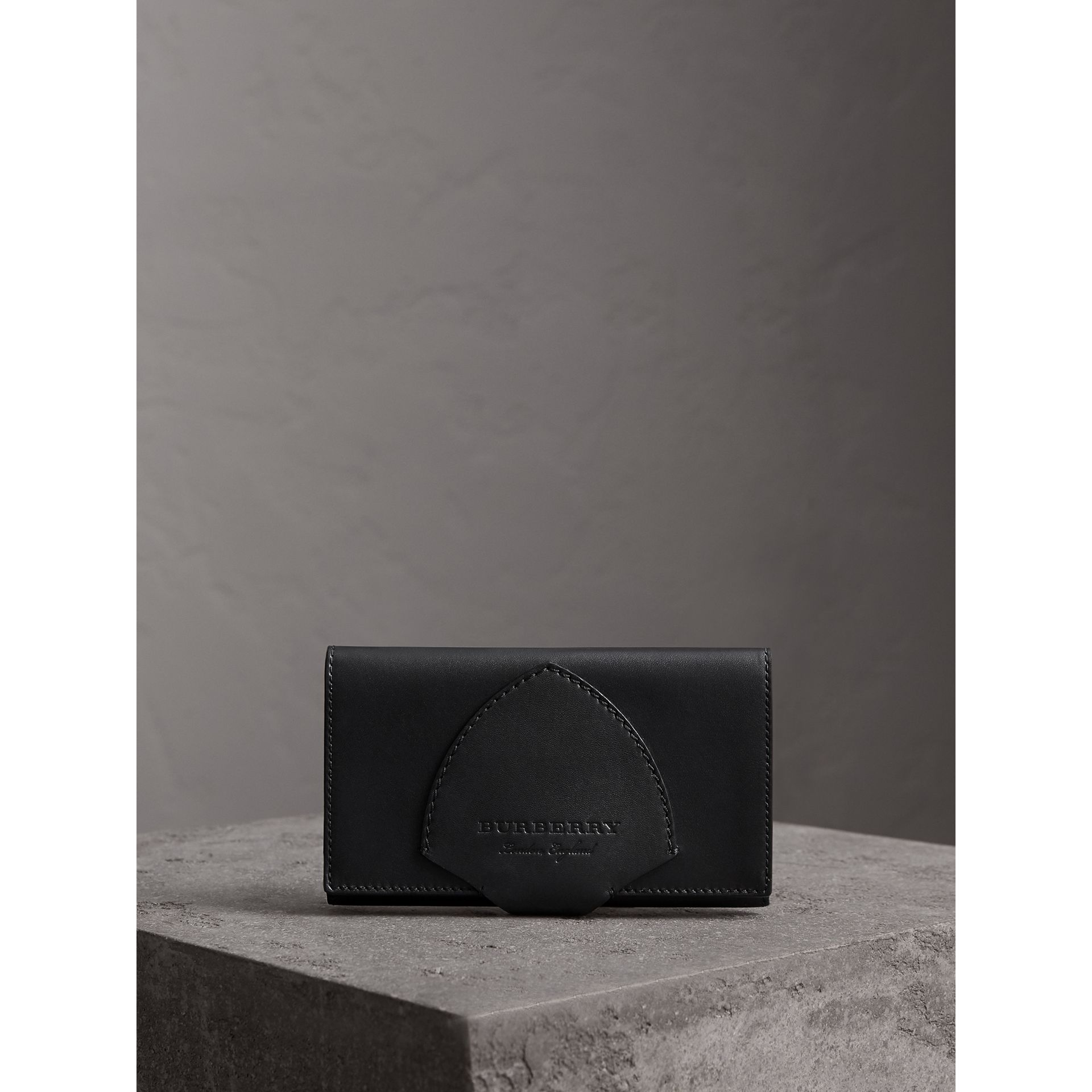 Equestrian Shield Leather Continental Wallet in Black - Women | Burberry - gallery image 5