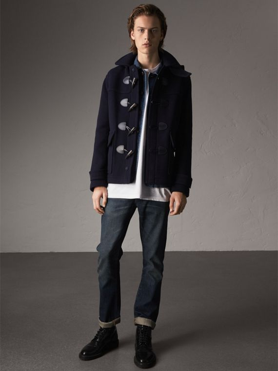 Wool Duffle Jacket with Detachable Hood - Men | Burberry
