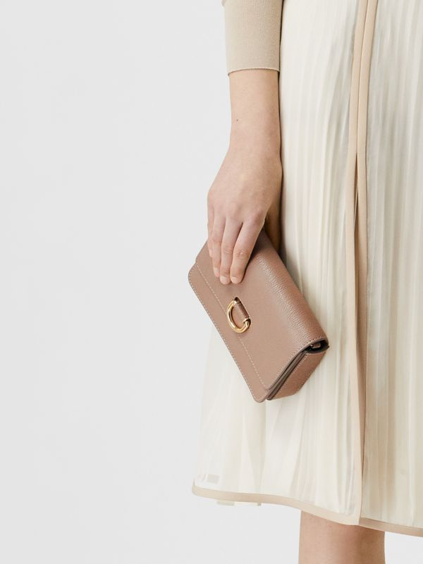 The Mini Grainy Leather D-ring Bag in Pale Mink - Women | Burberry - cell image 2