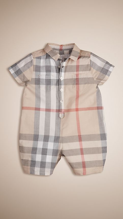 Classic check Check Cotton Playsuit - Image 1