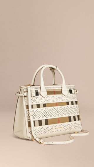 Sac The Banner medium en coton House check et cuir
