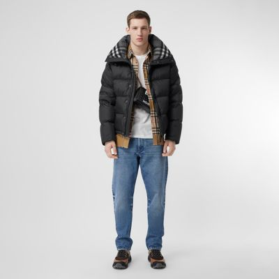 puffer trench coat mens