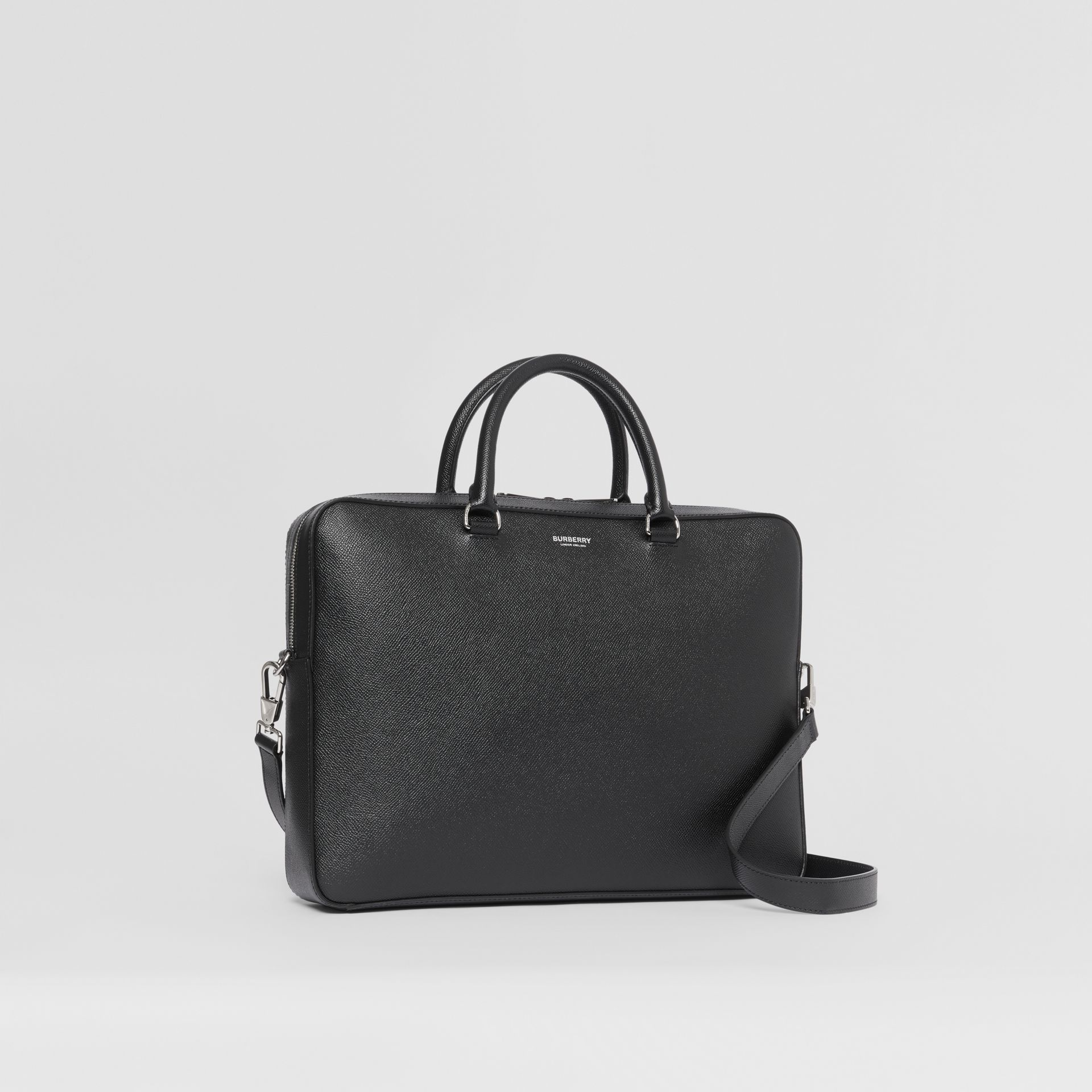 Attaché-case en cuir grainé (Noir) - Homme | Burberry Canada - photo de la galerie 6