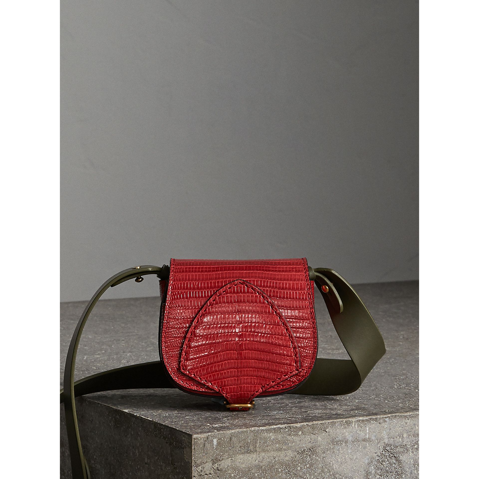 The Pocket Satchel in Lizard in Clove Red - Women | Burberry Singapore - gallery image 1