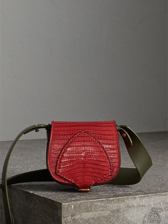 The Pocket Satchel in Lizard in Clove Red