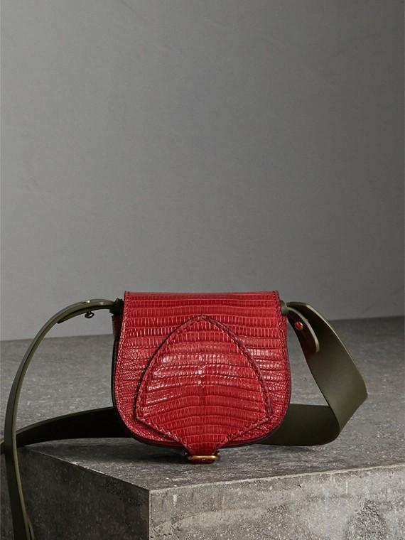 Миниатюрная сумка-портфель Pocket Satchel из кожи ящерицы (Красная Гвоздика)