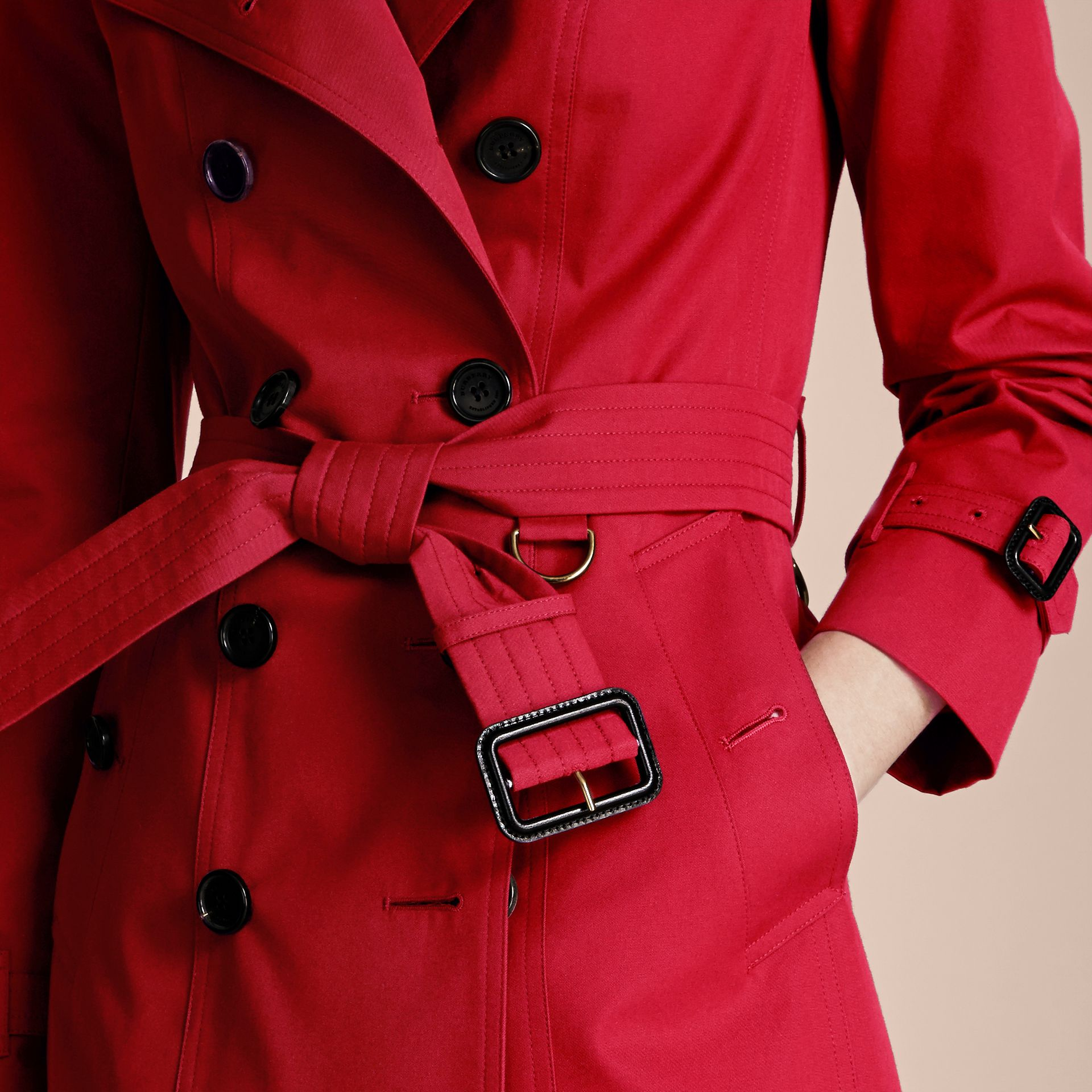 Parade red The Sandringham  – Long Heritage Trench Coat - gallery image 6