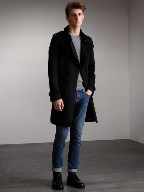 Cashmere Wool Trench Coat - Men | Burberry Canada