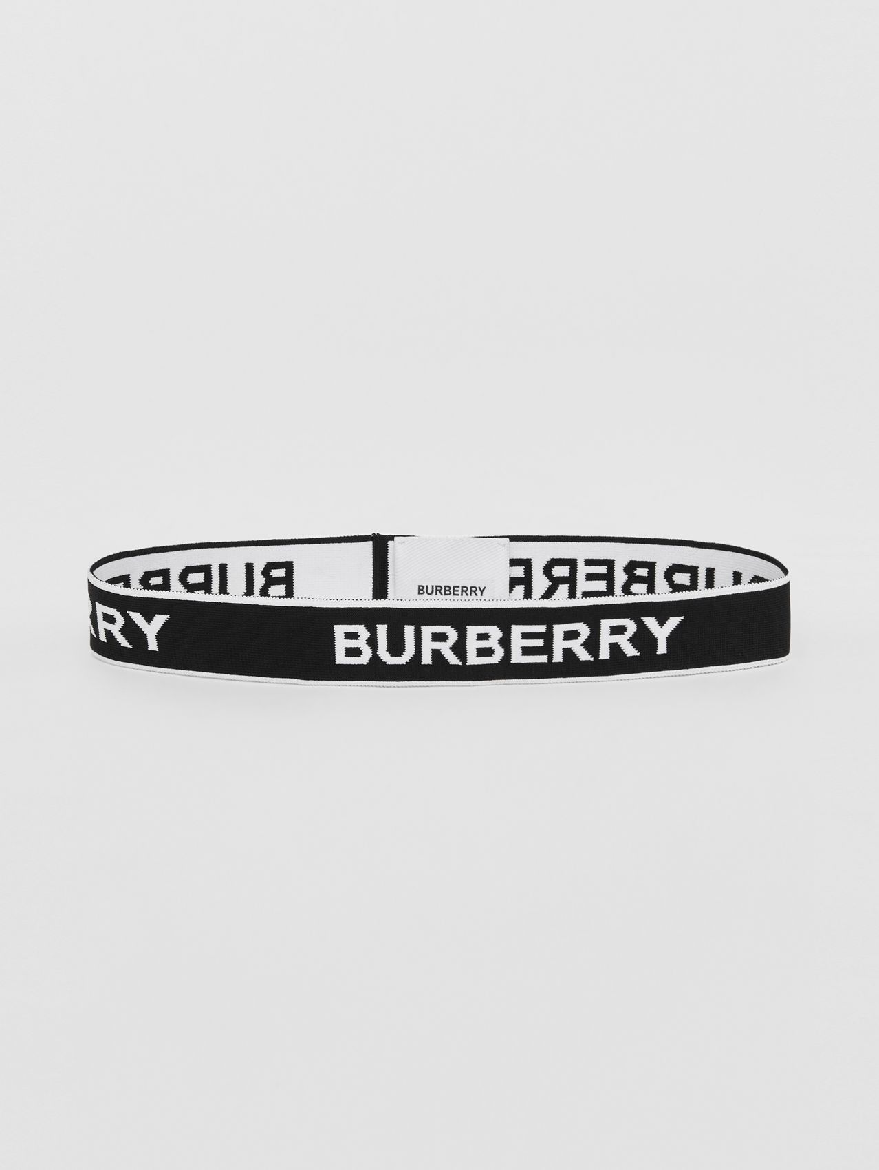 Logo Jacquard Headband in Black