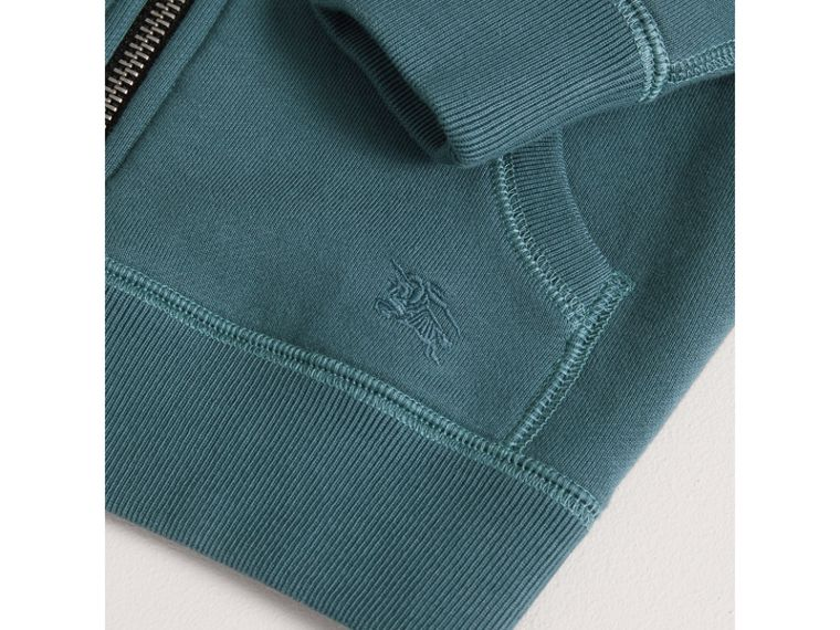 Hooded Cotton Top in Pewter Blue - Boy | Burberry - cell image 1